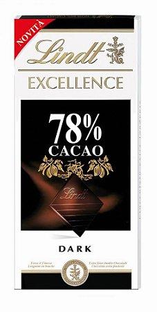CHOCOLATE AMARGO LINDT EXCELLENCE 78% CACAU 100G