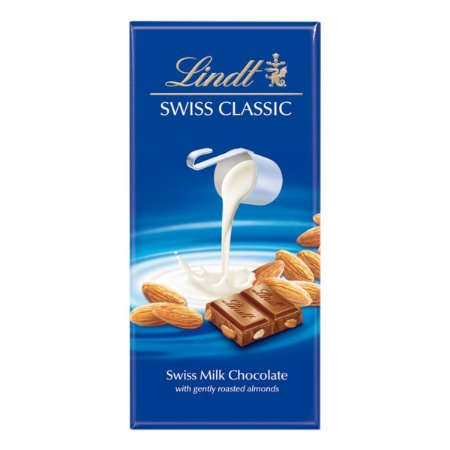 CHOCOLATE AO LEITE COM AMENDOAS LINDT 100G