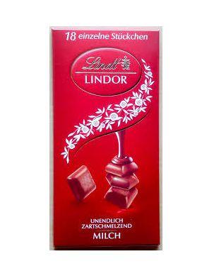 CHOCOLATE LINDT MILK LINDOR SINGLE 100G