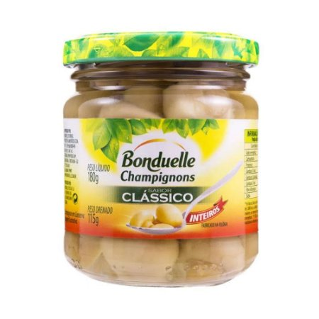 COGUMELOS BONDUELLE CLASSICO INTEIRO 180G
