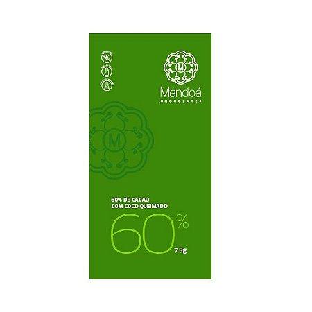 CHOCOLATE 60% CACAU COM COCO QUEIMADO 75G