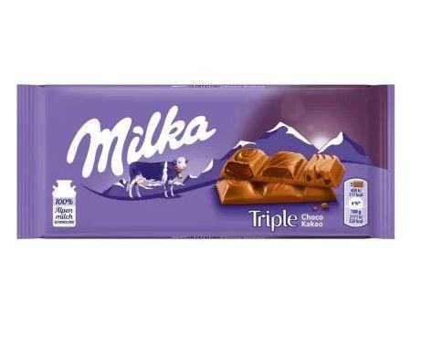 MILKA TRIPLE CHOCO COCOA 90G