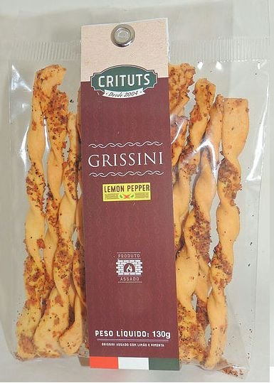 GRISSINI SABOR LEMON PEPPER CRITUTS 130G