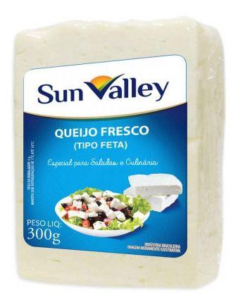 QUEIJO FRESCO TIPO FETA CULINARIO SUN VALLEY 300G