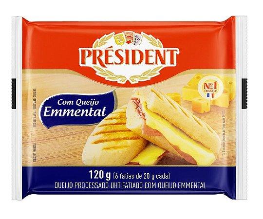 QUEIJO EMMENTAL PROCESSADO EM FATIAS PRESIDENT 120G
