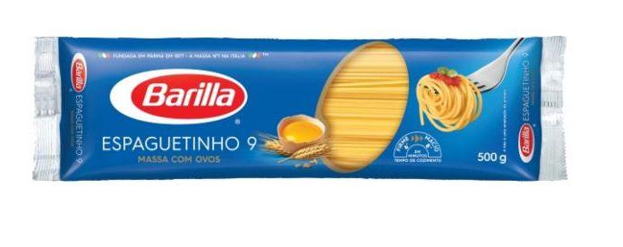 MASSA BARILLA ESPAGUETINHO N9 COM OVOS 500G