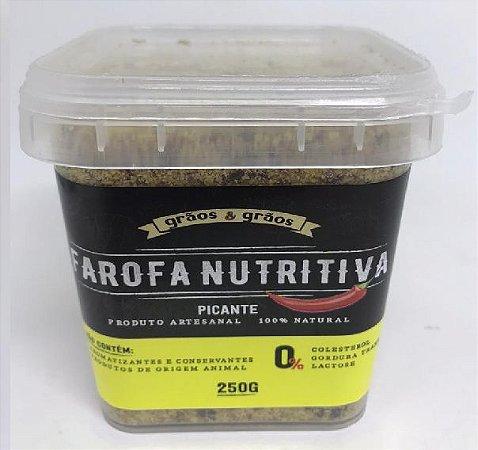 FAROFA NUTRITIVA PICANTE GRAOS E GRAOS 250G