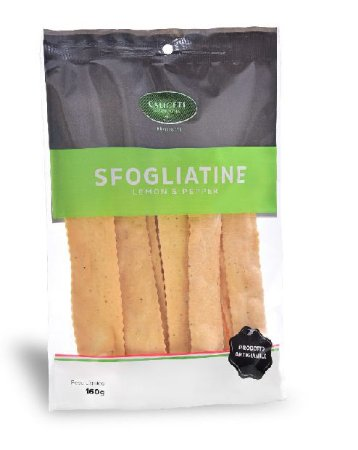CALICETI DI BOLOGNA SFOGLIATINE LEMON PEPPER 160G