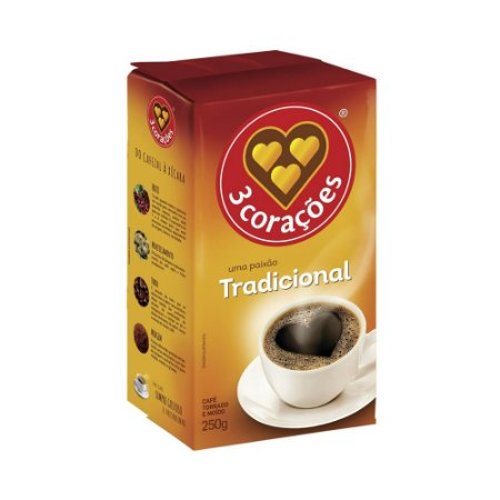 CAFE 3 CORACOES TRADICIONAL VACUO 250G