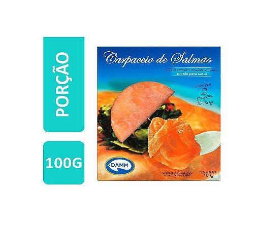 CARPACCIO DE SALMAO DEFUMADO CONGELADO DAMM 100G