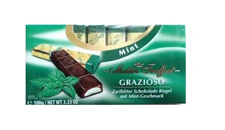 CHOCOLATE FINGERS AMARGO SABOR MENTA MAITRE 100G