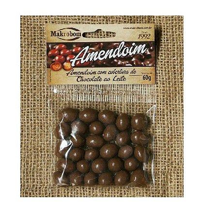 AMENDOIM COM CHOCOLATE MAKROBOM 100G