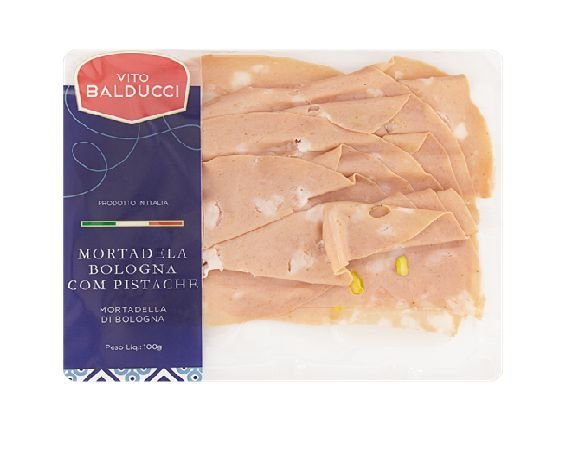 MORTADELA COM PISTACHE PREMIUM VITO BALDUCCI 100G