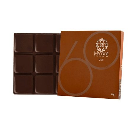 CHOCOLATE 60% CACAU COM CAFE MENDOA 75G