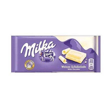 CHOCOLATE MILKA BRANCO WEISSE SCHOKOLADE 100G