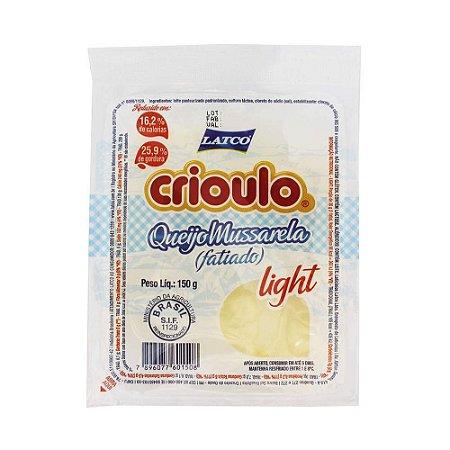 MUSSARELA LIGHT CRIOULO 150G