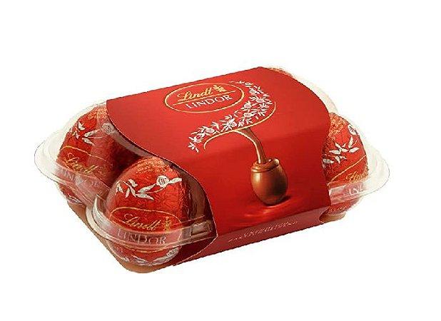 CHOCOLATE LINDT LINDOR MILK EGGS BOX 168G