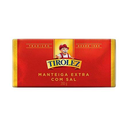 MANTEIGA EXTRA COM SAL TIROLEZ 200G