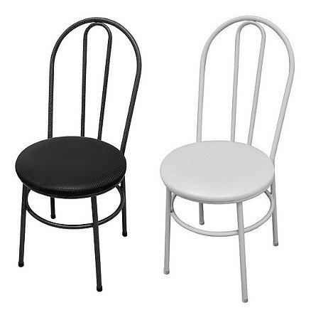 Cadeira Para Cozinha Assento Branco Ou Preto