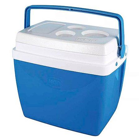 Caixa Termica Mor 26 Litros Azul