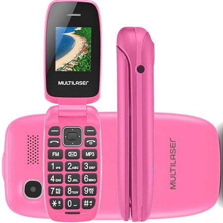 Celular Multilaser P9023 Flip Up Pink
