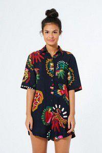 Macaquinho farm camisa tropicalia  -Hb03
