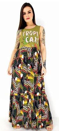 Vestido farm bordado tropicaxi