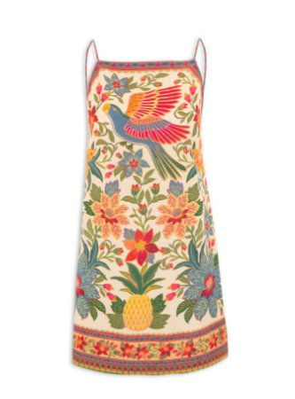 Vestido Farm Curto Flor De Arara