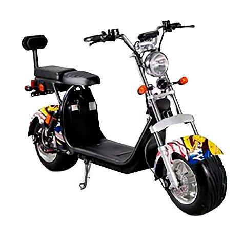 Bike Scooter Elétrica Harley Citycoco 2000w garfo duplo