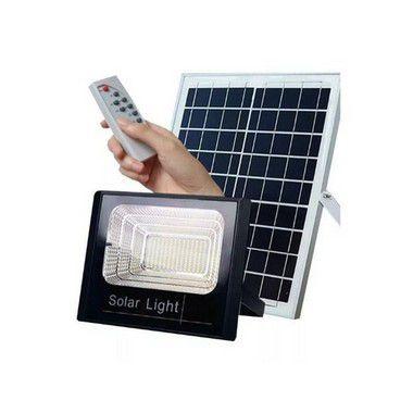 Refletor Placa Solar Led 300w Controle Remoto Branco Frio