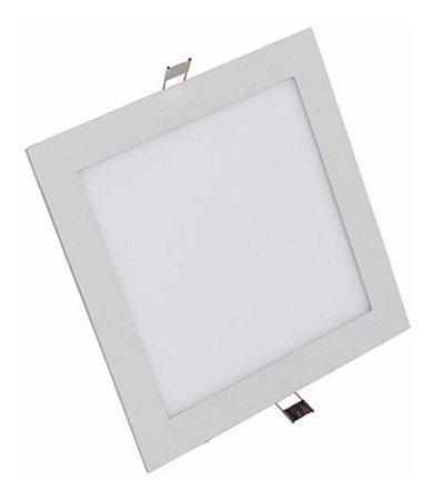 Luminária Plafon Led 12w Embutir Quadrado Branco Frio