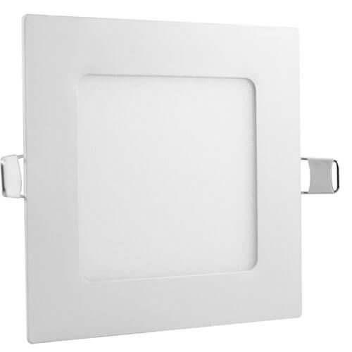 Luminária Plafon Led 6w Embutir Quadrado Branco Frio
