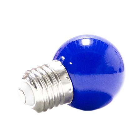 Lâmpada Bolinha Led Decorativa 1W Azul