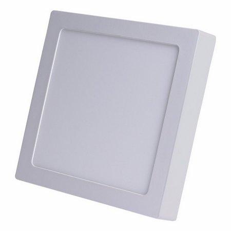 Luminária Plafon Led 12w Sobrepor Quadrado Branco Frio