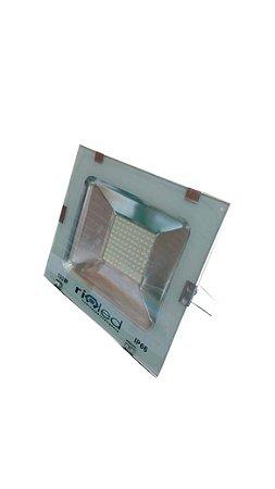 Refletor Led 100w Branco Frio IP66