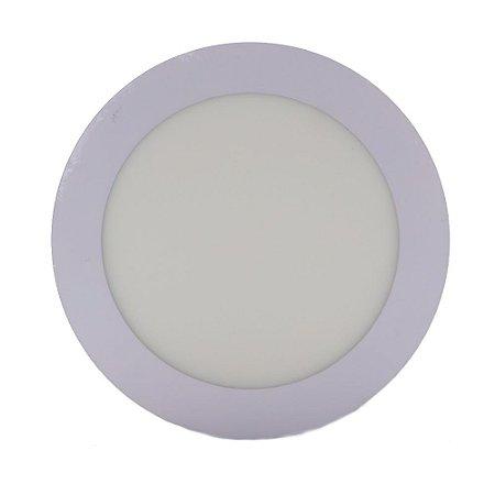Luminária Plafon Led 12w Embutir Redondo Branco Quente