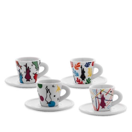 Conjunto de 4 xícaras com pires - Bialetti
