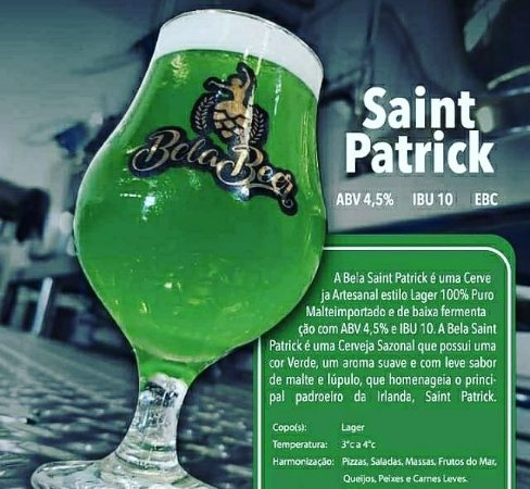 Bela Saint Patrick Growler 1 Litro