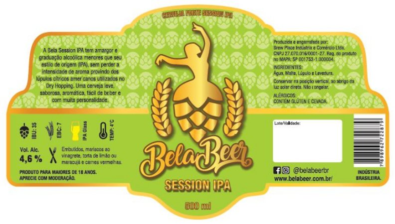 BELA SESSION IPA - V - KEG 50 LITROS