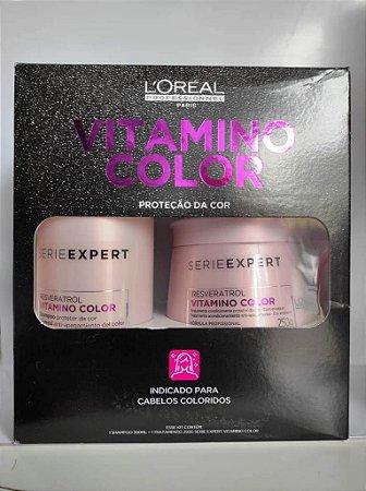 LOREAL KIT VITAMINO COLOR SHAMPOO 300ML + MASCARA 250GR