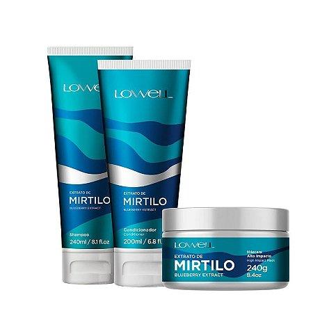 Lowell Mirtilo Shampoo + Condicionador + Mascara Home Care
