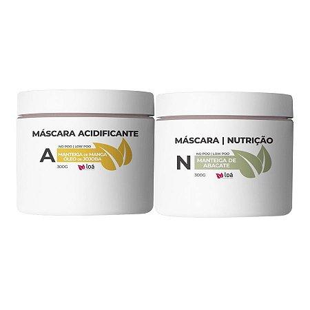 Máscara Acidificante e Máscara de Abacate 300g - Loá