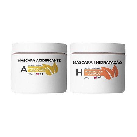 Máscara Acidificante e Máscara de Cupuaçu 300g - Loá