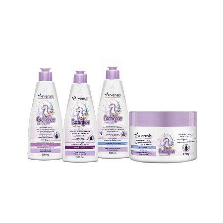 Kit Cachinhos Crespos e Crespíssimos - Arvensis - 4 produtos