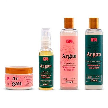 Kit 4 produtos - Argan e Babosa G14 Store