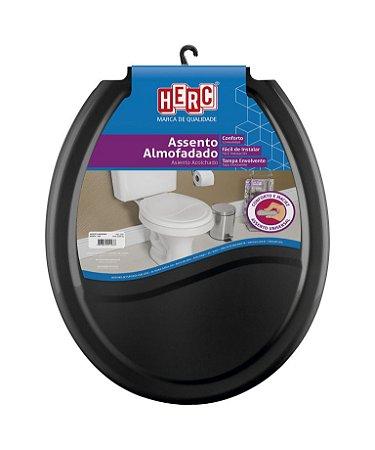 Assento sanitário Herc almofadado preto