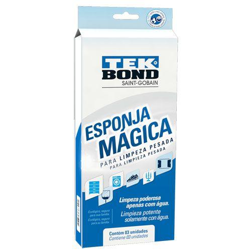 Esponja mágica Tekbond com 03 unidades