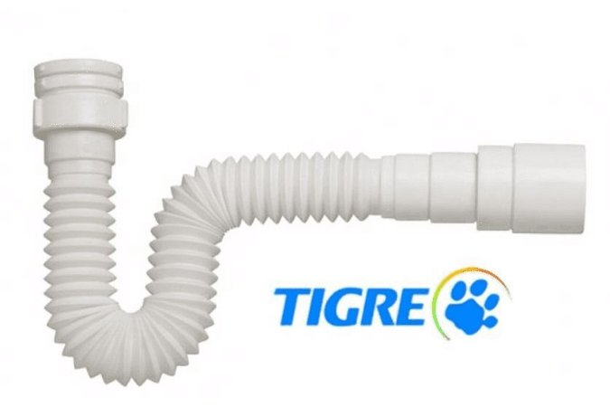 Sifão Sanfonado Universal Simples Ajustável Tigre Plena 66cm