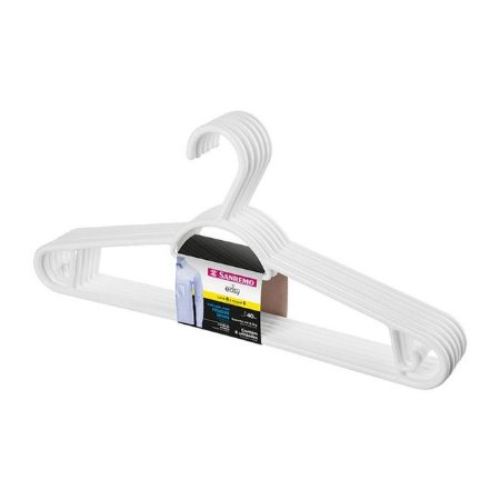 Cabide Pendura Mais Plástico 5 pçs Branco - 40cm