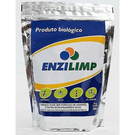 Enzilimp 500gr biodegradador limpa fossa e caixa de gordura